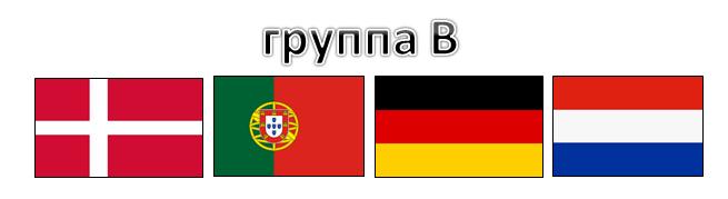 Флаги группы B чемпионата европы по футболу 2012
